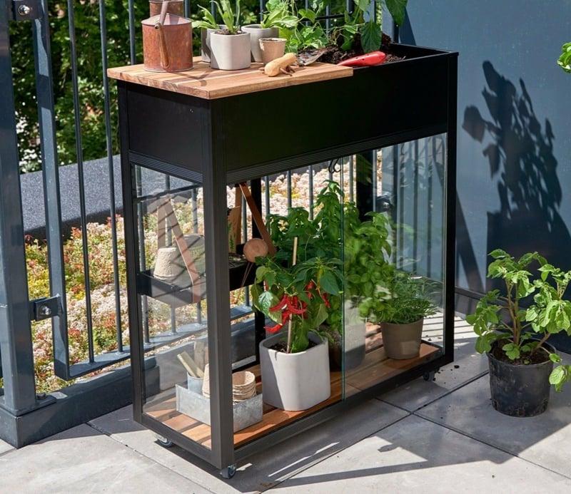 Mini-Gewächshaus für Balkonpflanzen