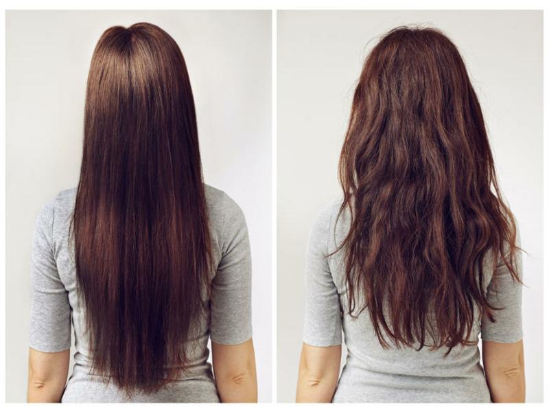 Glatte Haare ohne Haarglätter Keratin Glättung dauerhaft