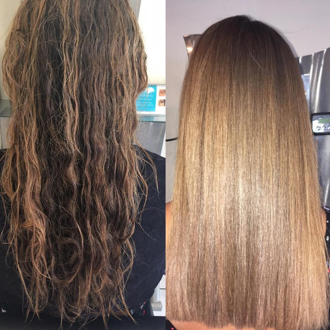 Glatte Haare ohne Haarglätter Keratin Glättung