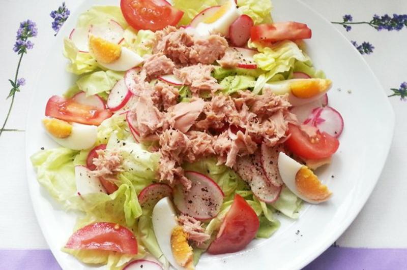 Thunfisch Rezepte grüner Salat