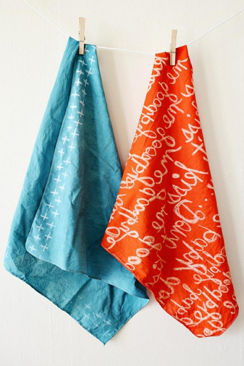 Handtücher dekorieren Wachs herrlicher Look