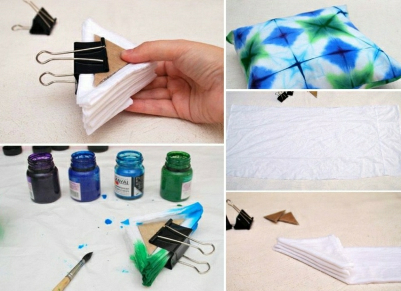 Batik Techniken Falten Kissenhülle