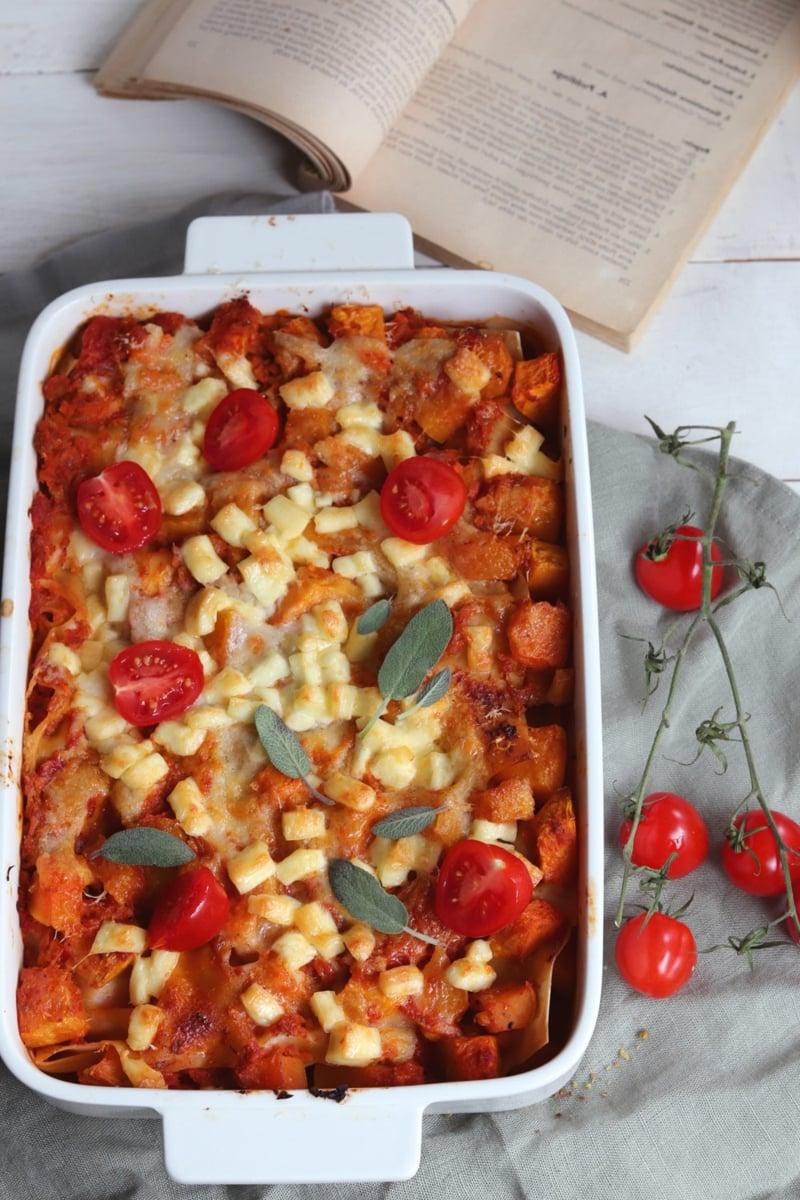 leckere Lasagne mit Kirschtomaten