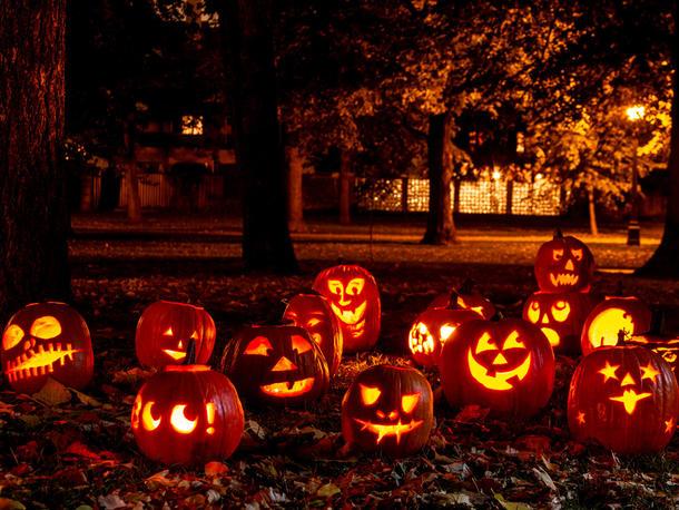 Kürbislaternen Halloween