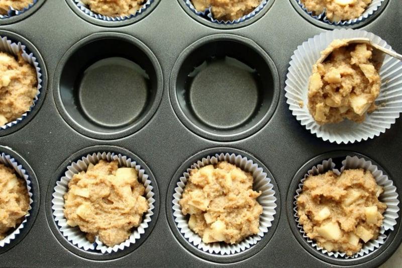 Muffins Apfel Mürbeteig