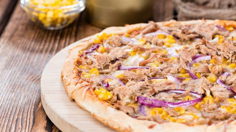 Thunfisch Rezepte knusprige Pizza