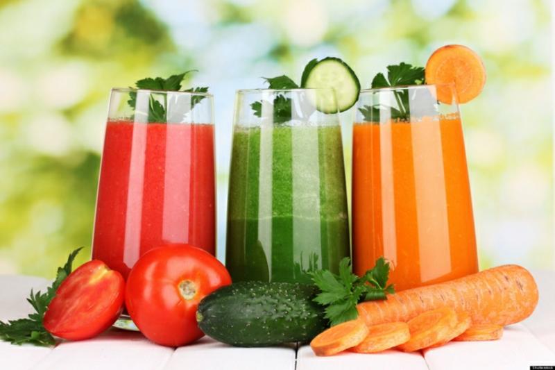mehr Frucht- und Gemüsesäfte trinken