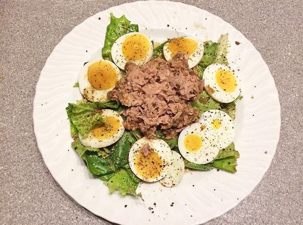 Thunfisch Rezepte Salat mit gekochten Eiern