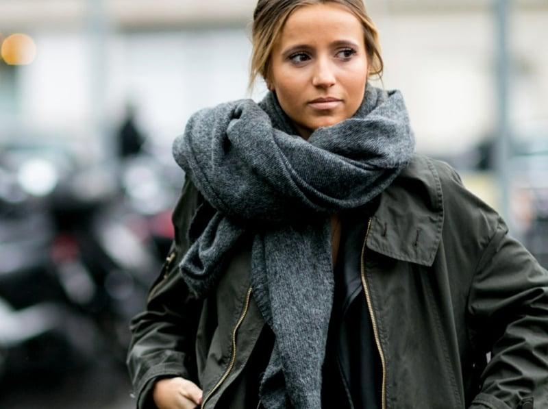 Schal als modisches Accessoire