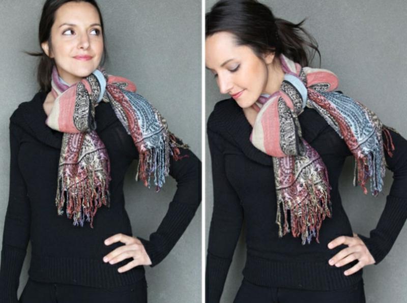 Schal binden Schlefe originell