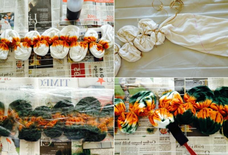 Batik Schuppenmuster gestalten