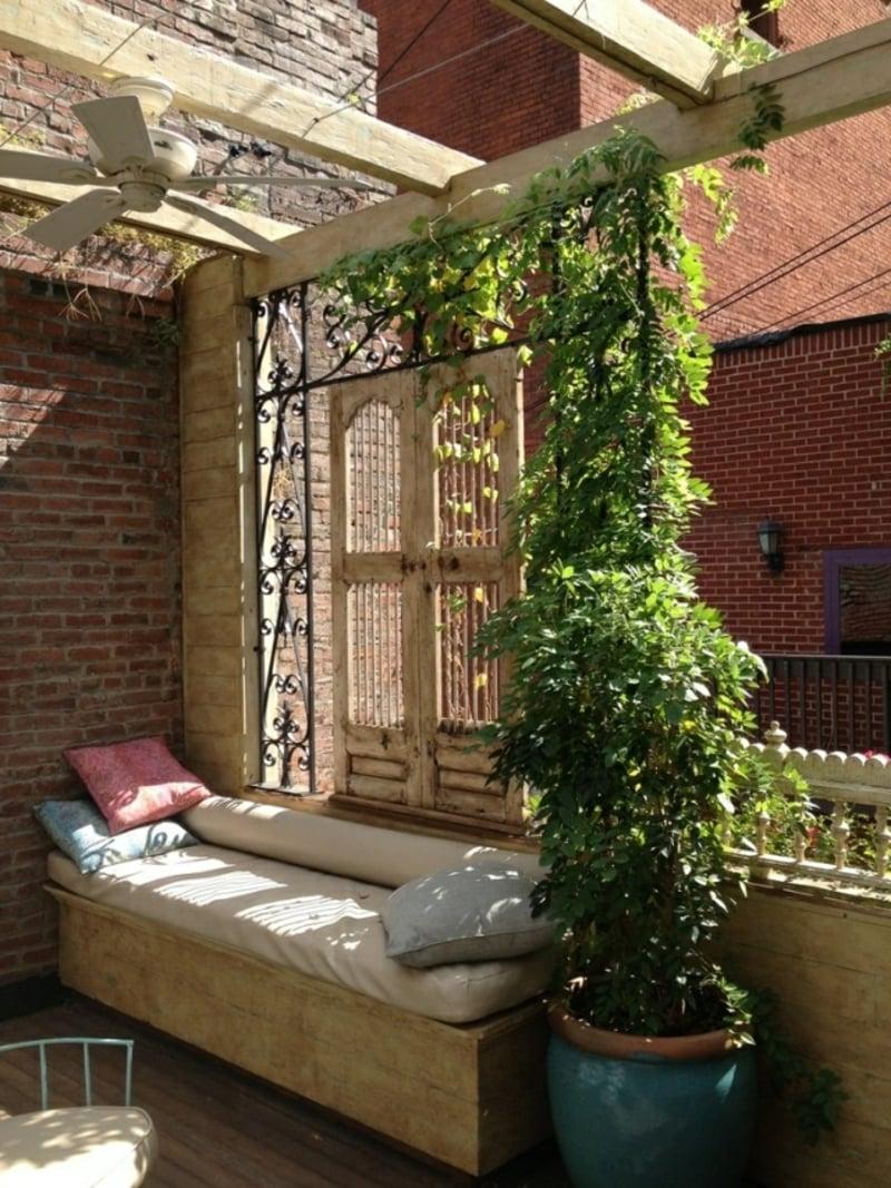 Sonnenschutz Balkon Kletterpflanzen