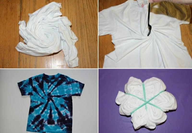 Batik Spirale selber machen