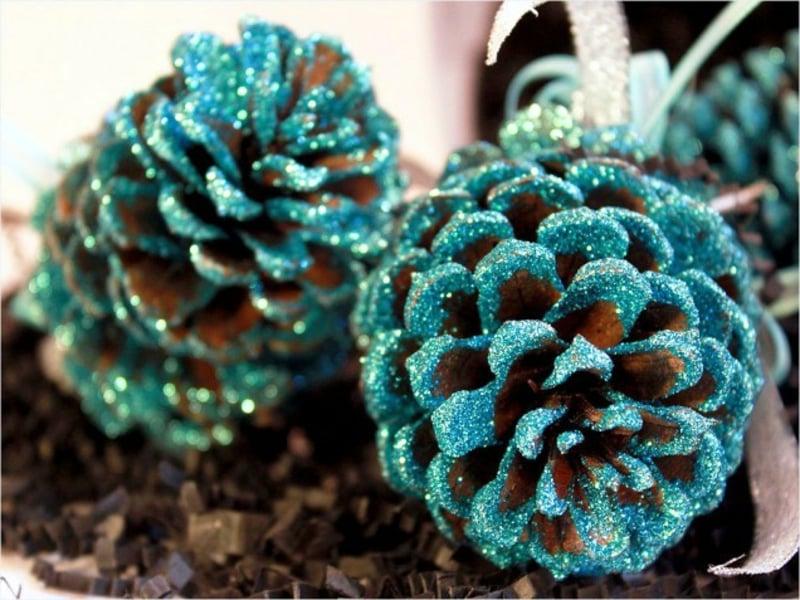 Basteln mit Naturmaterialien Weihnachten Tannenzapfen