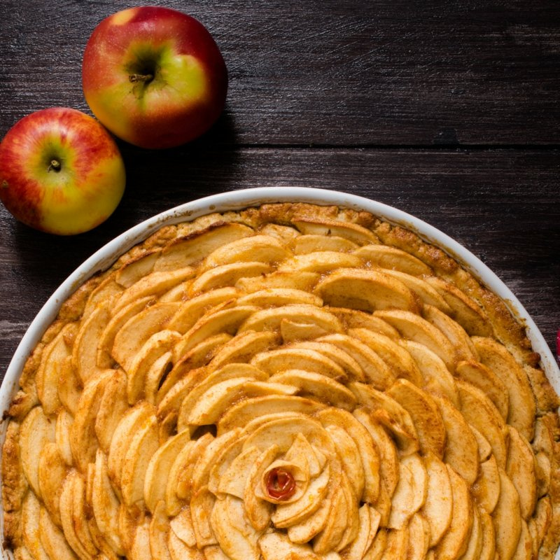 veganer Apfelkuchen französisch