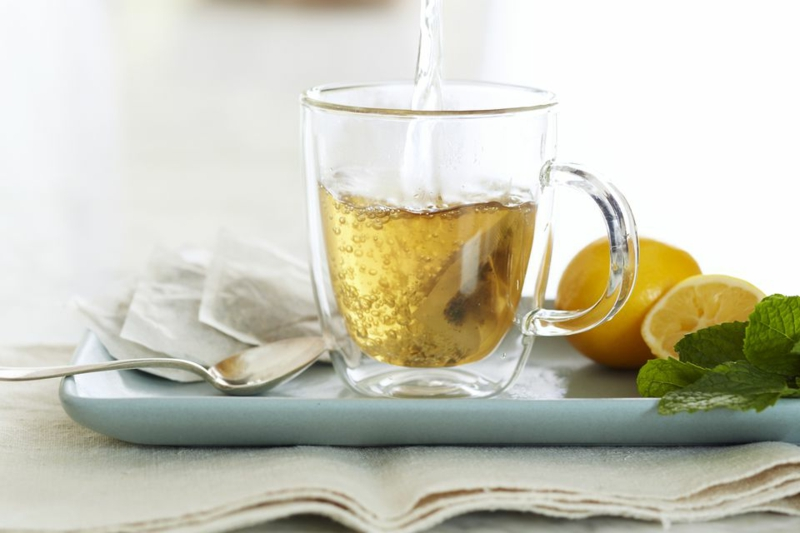 viel Tee trinken