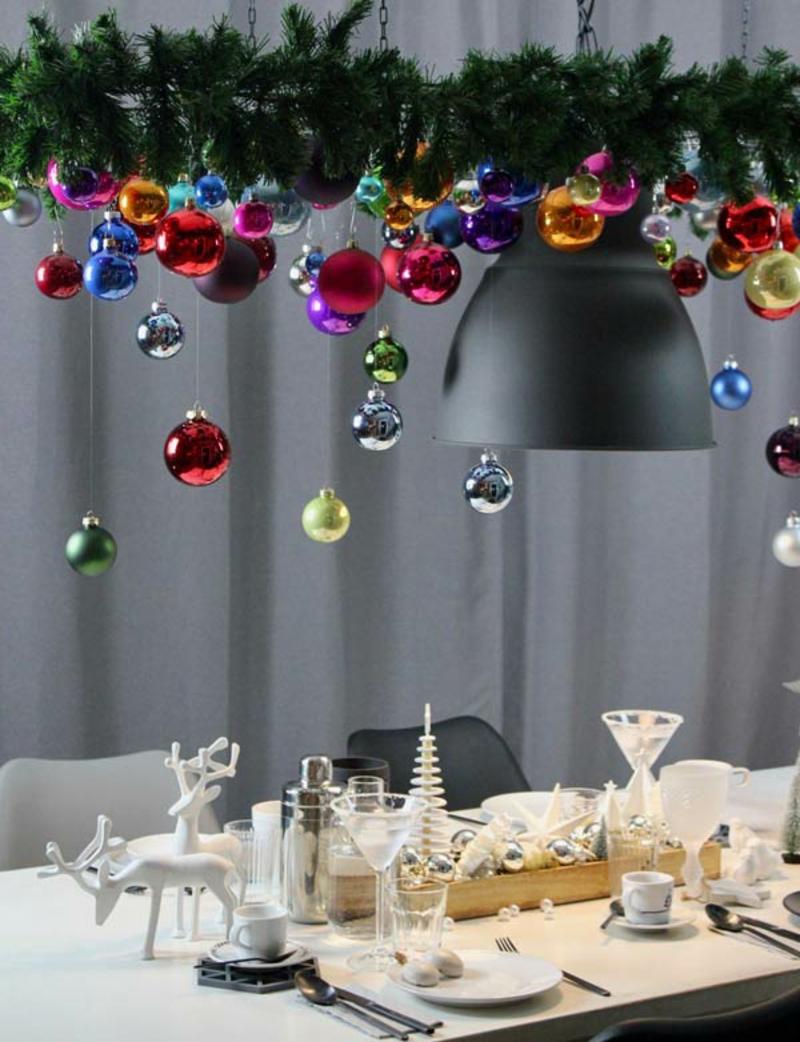 eindrucksvolle Tischdeko Weihnachten
