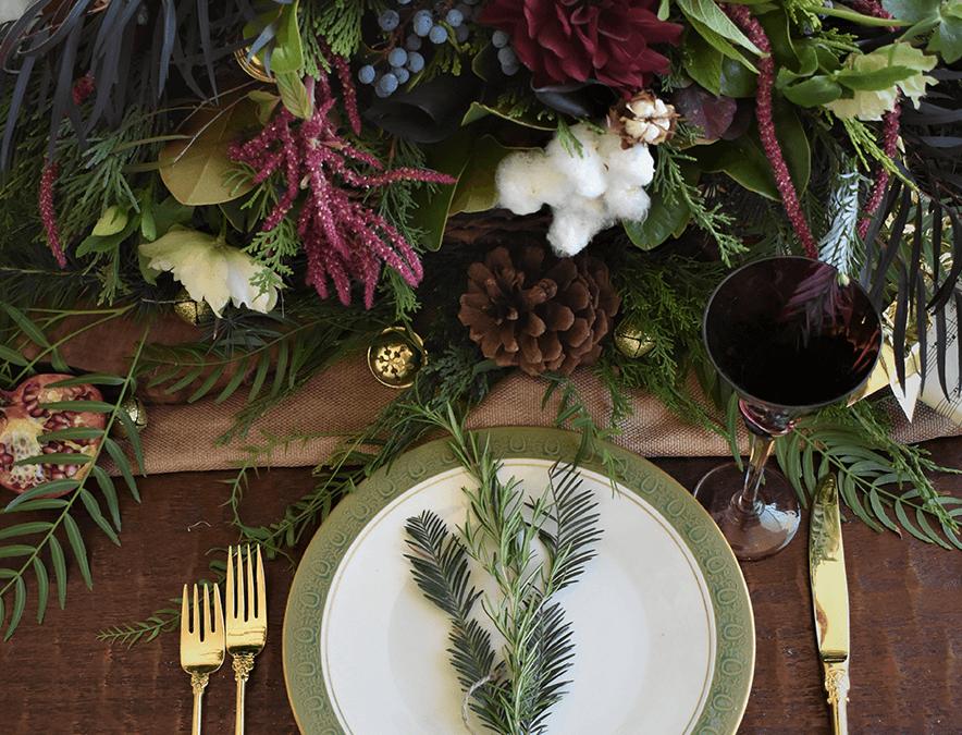 der festliche Tisch dekorieren