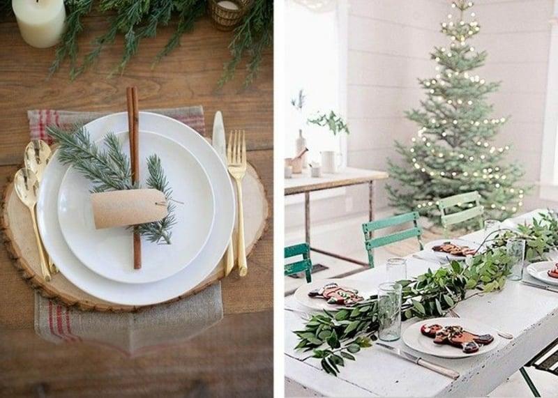 Basteln mit Naturmaterialien Weihnachten Tischdeko