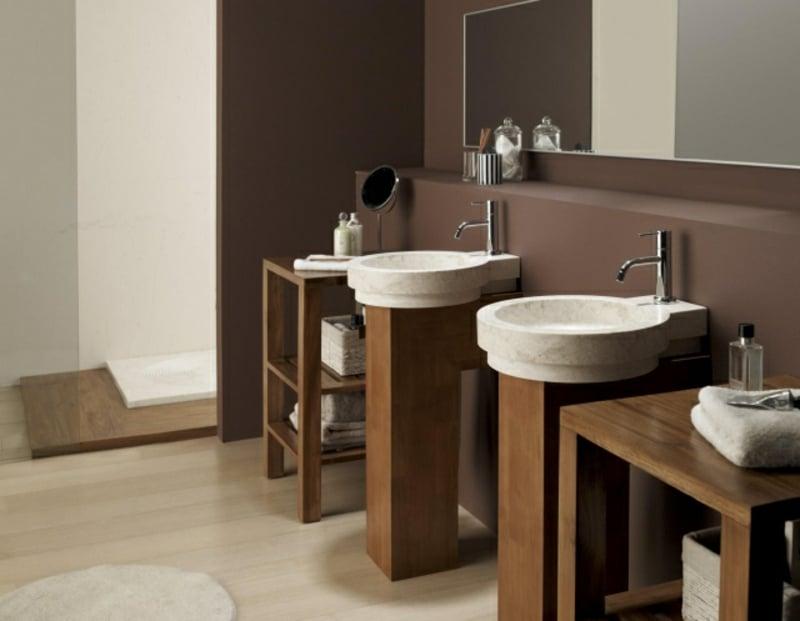 elegante Aufsatzwaschbecken Säulenwaschtisch