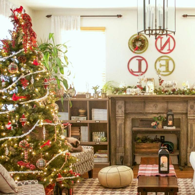 Weihnachten Trends 2019 das Wohnzimmer dekorieren