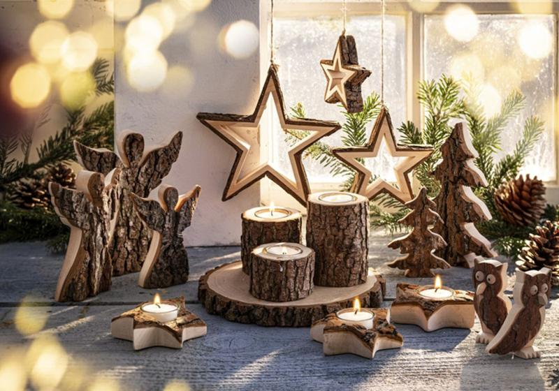 Weihnachten Trends 2019 natürliche Materialien