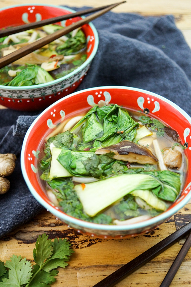 Pak Choi Rezepte Suppe kochen