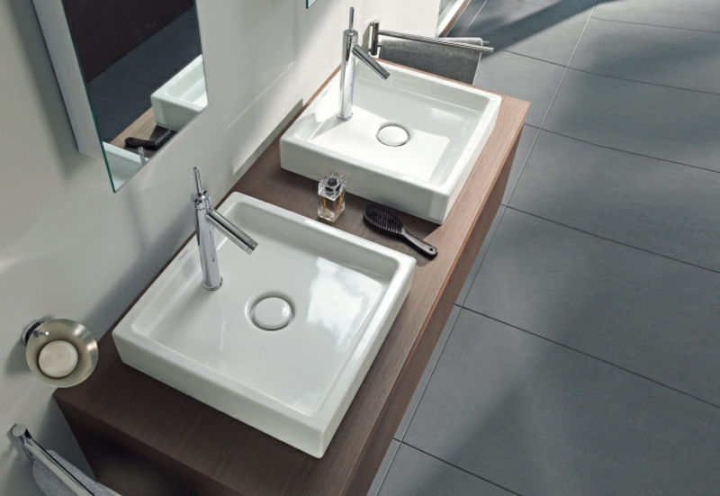 Keramik Aufsatzwaschbecken rechteckig