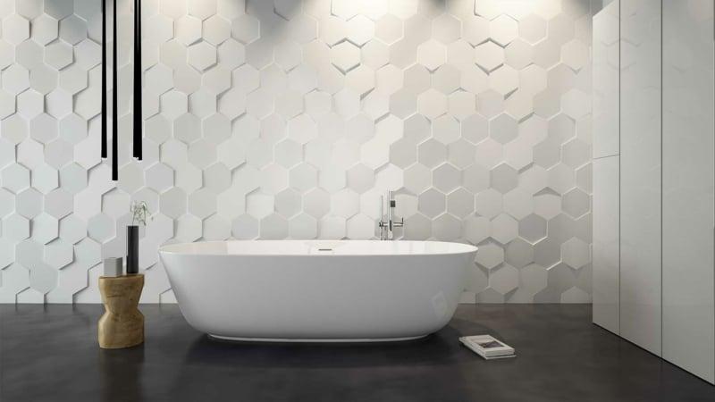 Wandfliesen Badezimmer 3D modern