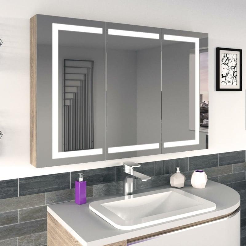 Badezimmer Spiegelschrank super modern Blickfang