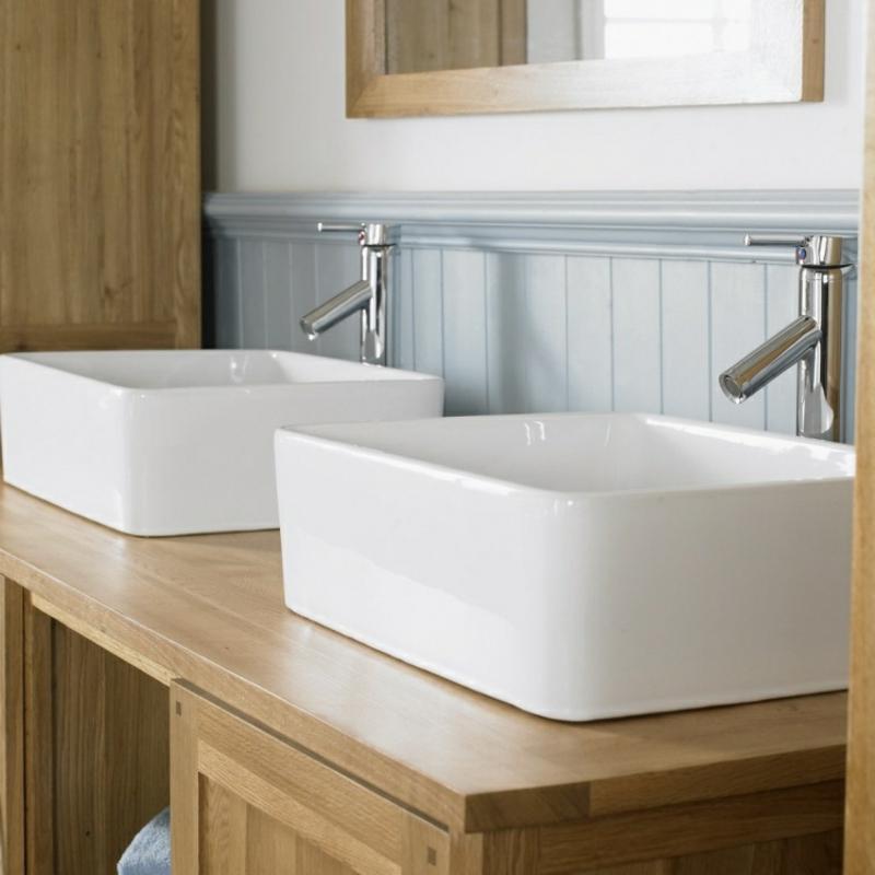 moderne Aufsatzwaschbecken aus Keramik