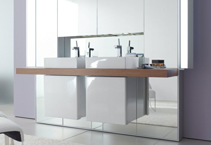 Doppelwaschtisch Aufsatzwaschbecken Unterschränke
