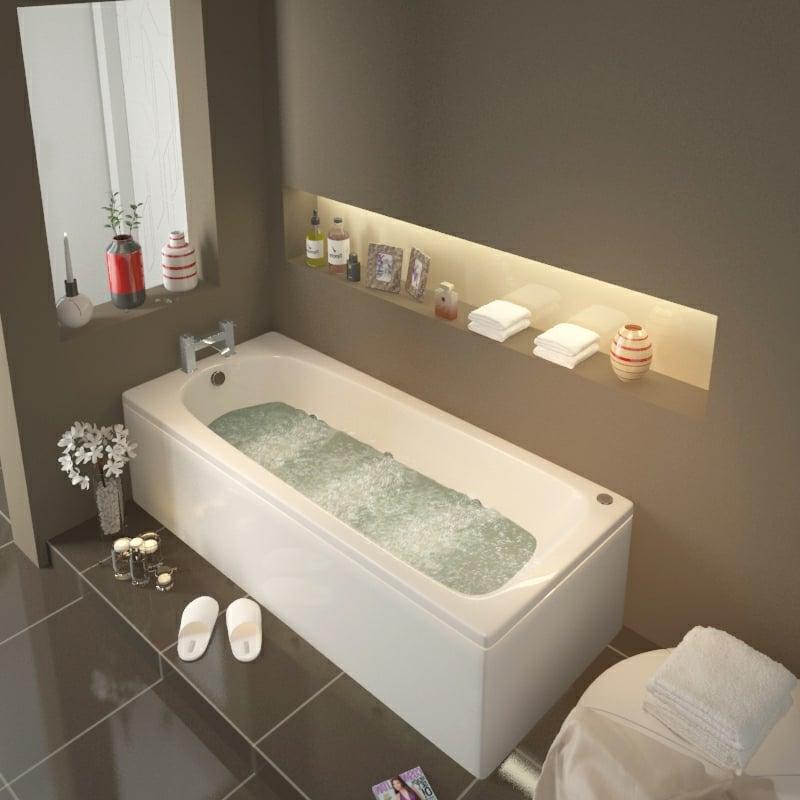 Whirlpool Badewanne modern luxuriös