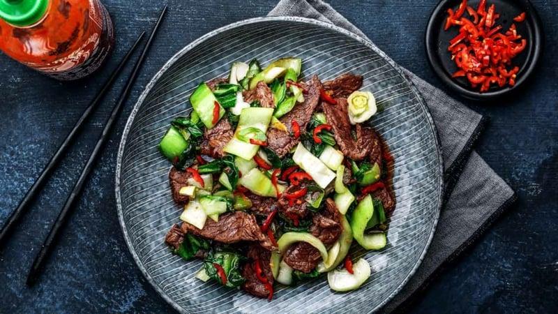 Pak Choi Rezepte mit Fleisch asiatische Küche