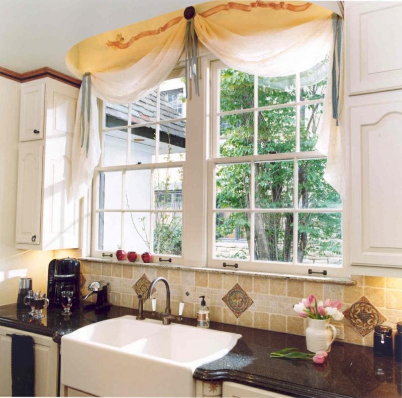 Gardinen Küche hellgelb dezent
