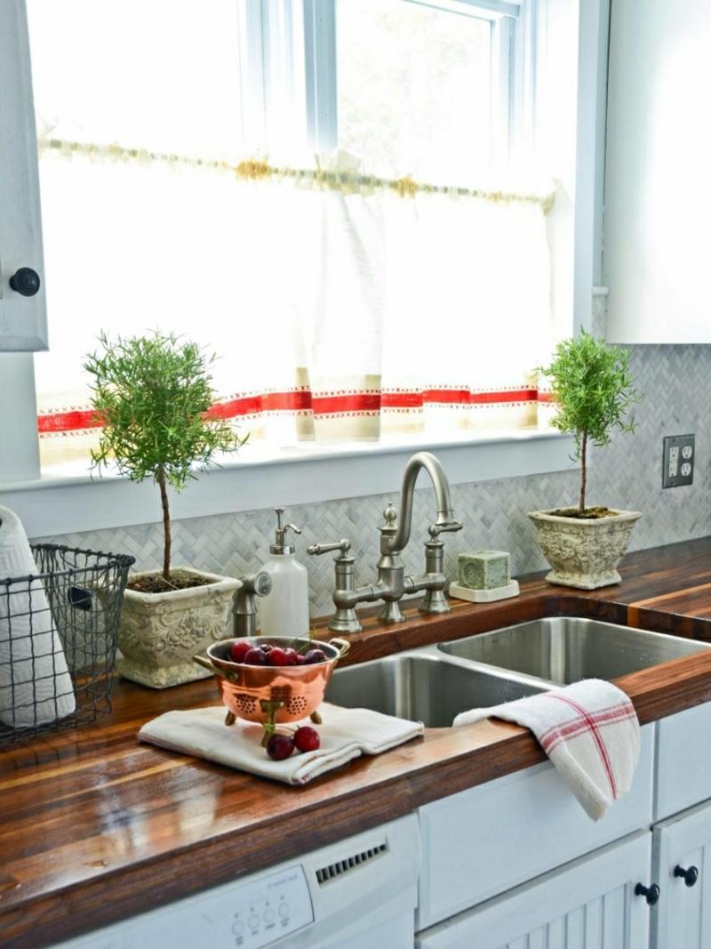 Küchengardinen Seide weiß Streifenmuster