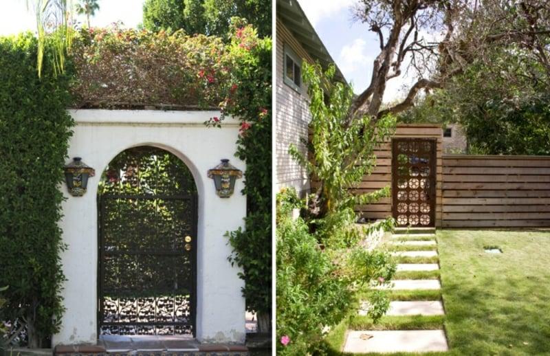 Gartentür Designs tolle Ideen