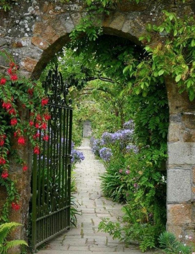 Gartentür mittelalterlicher Stil