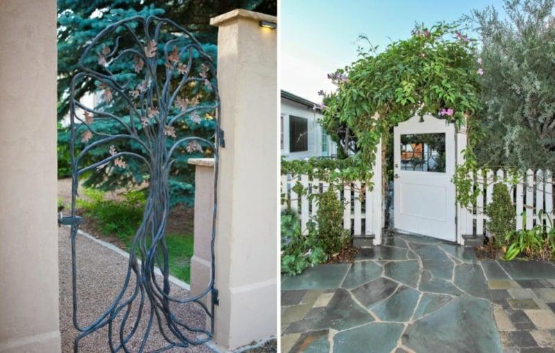 Gartentor Metall tolle Designs