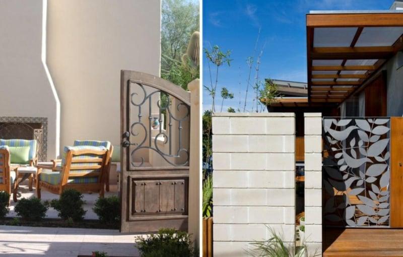Gartentor Metall stilvolle Ideen