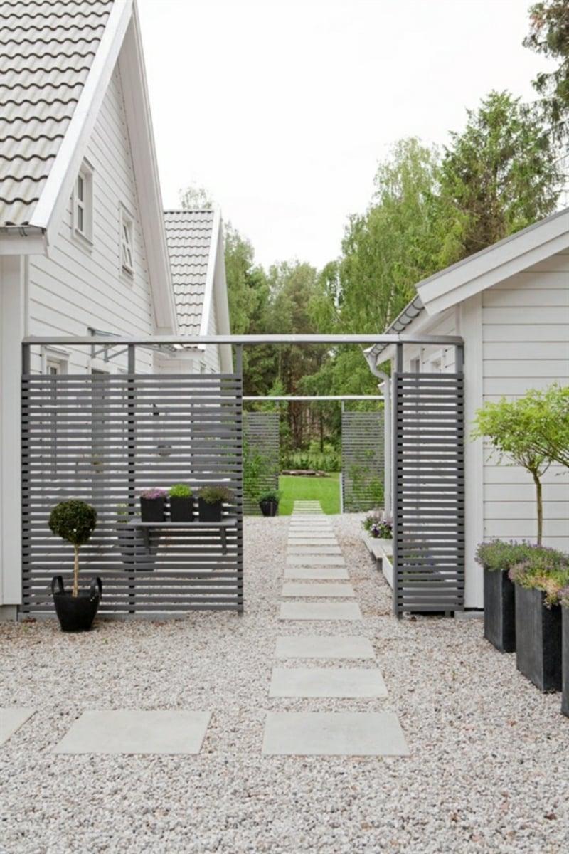 Gartentor Metall minimalistisch