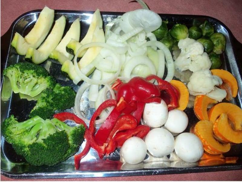 Gemüse anrösten ohne Fett Airfryer
