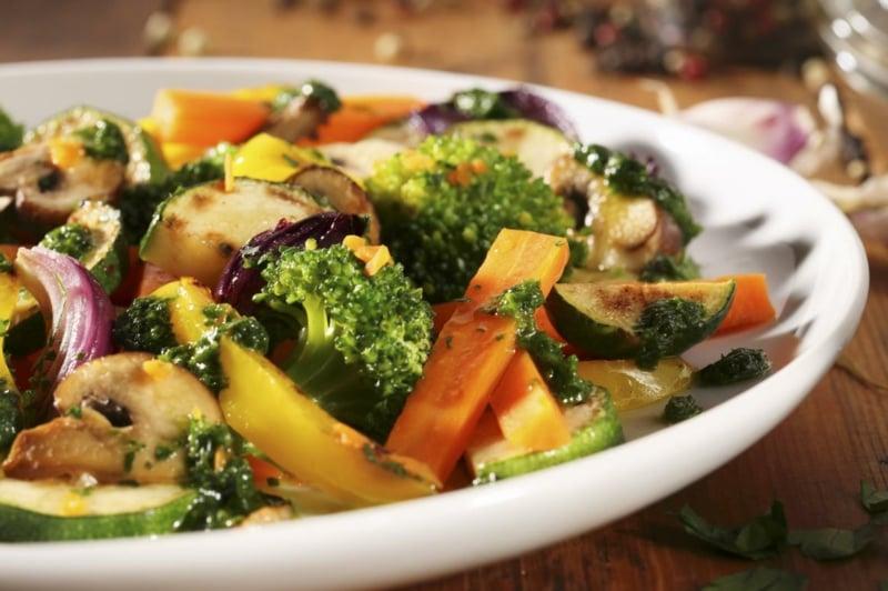 Gemüse anrösten Airfryer Beilage