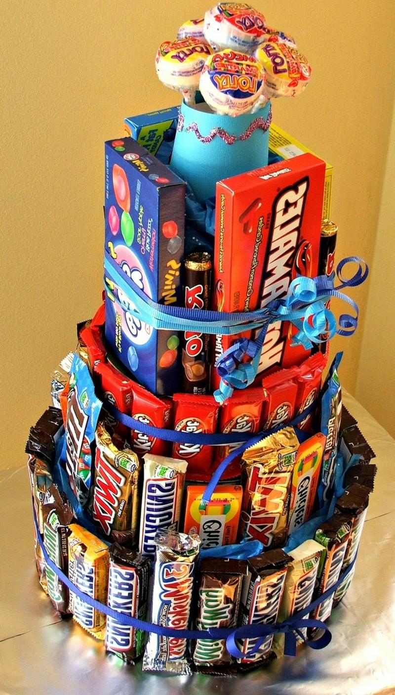 Torte aus Süßigkeiten Kinder Erwachsene