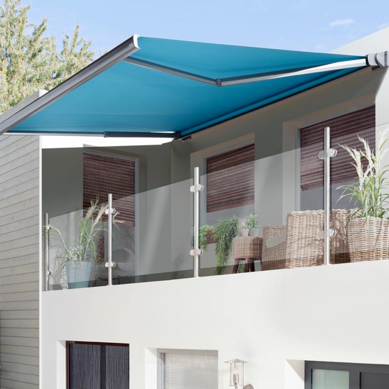 Balkonmarkise aus Plastik und Aluminium permanent