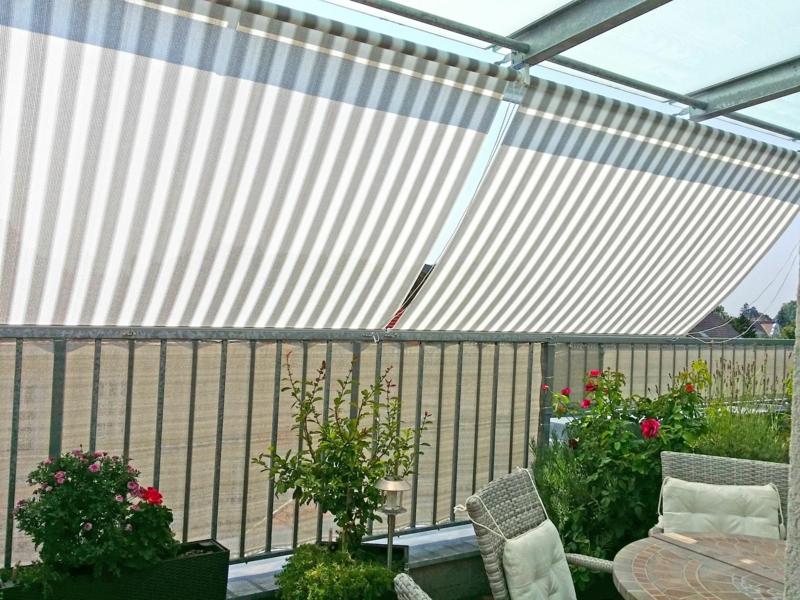 Markise Balkon Stoff Streifen groß