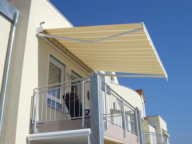 Markise Balkon klappbar Streifenmuster