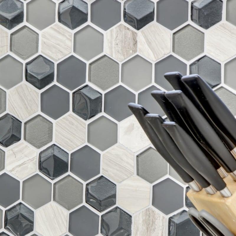 Mosaikfliesen Wand Küche