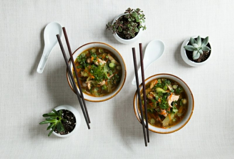 Pak Choi Rezepte leckere Suppe kochen
