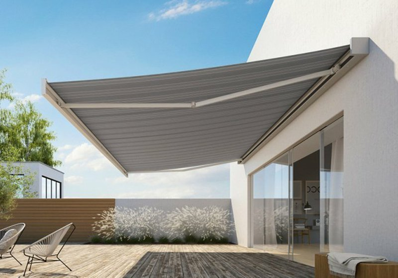 Markise Balkon permanent Konstruktion Aluminium